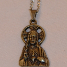 Sacred Heart Medal on Chain