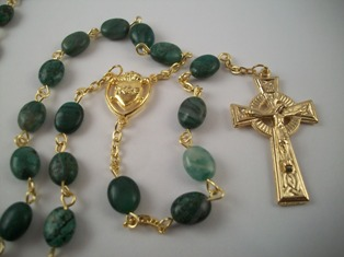 African Jade Celtic Rosary