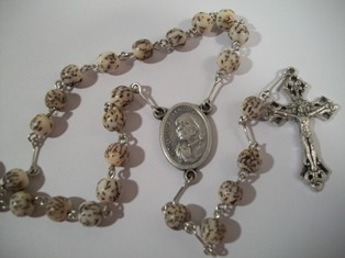 Blessed Mother Teresa Rosary with Salwag Beads