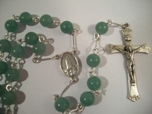 Jade Rosary with Soil from Fatima