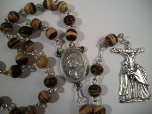 Blessed Mother Teresa Rosary with Coco Beads