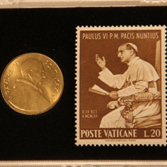 Pope Paul VI Coin & Stamp Set